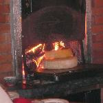 Traditional wood fire raclet