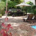 Pool area at Shades of Africa, Oudtshoorn, South africa