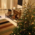 Christmas at the Balmoral, the lobby fireplace