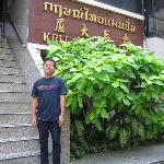 My Staff in entrance of Krit Thai Mansions