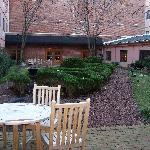 Courtyard in the center of the hotel, mind you this was taken in January so not too much in bloo