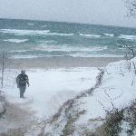 January Beach shot Lake Superior