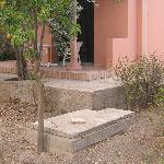 égout au pied de notre terrasse: senteurs marocaines