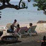 Bedienung auch am Strand