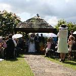 Garden wedding location at the Cragwood