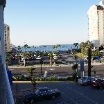 La vue de la terrasse de l'hôtel