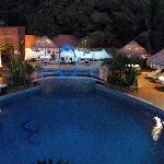 Le Rabelais Pool at Night