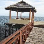 the end of the jetty - can swim off it in lagoon