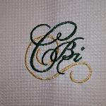 CBI Emblem embroidered on Shower Curtain