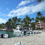 kleiner Hafen im Resort. Angelfahretn möglich