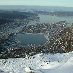 View from Mount Ulriken at winter time - Bergen