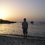 beach in palmadula at sunet
