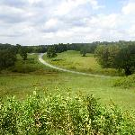 View from atop Great Temple Mound.