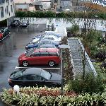 The Twelve car park and view from suite window