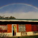 Rainbow over cabin  7