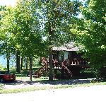 Cabin 102 and the lakeside