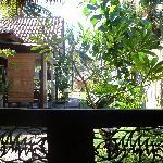 La terraza del bungalow, donde desayunabamos