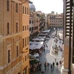 View of the Piazza Navona from the living room window