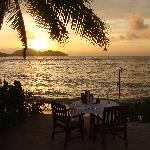 Sunset dinner by the beach side