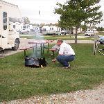 Der Campingplatz und ich mit einem Marshmallow :-)
