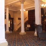 reception area in hotel