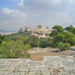 Vista de la Acrópolis (y de la ciudad entera) desde el Philopapus