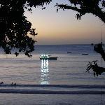 Las Cuevas Beach at sunset