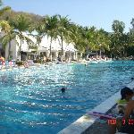 The main pool, main buffet on left side. Lunch buffet behind me