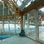 the pool - half inside/half outside