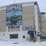 Shipyard In The Snow