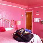 The Debbie Reynolds room. Very pink.