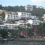 View of Dolphin Cove Inn from Water