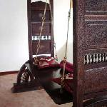 the antique swing upstairs in our balcony