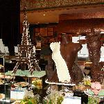 Chocolate scuptures at Ambar Buffet