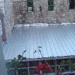 View out our window - Topkapi Palace walls