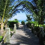 Walkway from the property to the beach