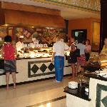 Breakfast buffet omellette station