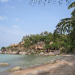 The beach front at Koh Tao Cabana