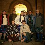 Photo of guests and hosts (kilt friendly of course)