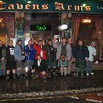 Group in front of Caverns arms  a local eatery