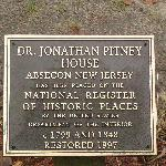Pitney House Plaque