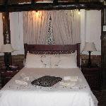 This is one of the thatched-roof guest houses that our group stayed in.  Comfy!