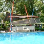 The pool bar of Hotel Sokol