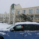 Snow At The Quality Inn