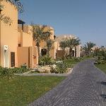 Hilton resort villa's at the back