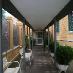 Entrance inside the gate