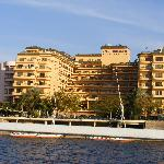 View of the hotel from the Nile
