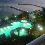 Lovly View From Balcony At Night Time