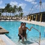 Happy Couple in the beautiful pool!!!
