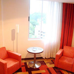 Sitting area in hotel room